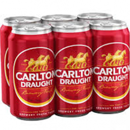 Carlton Draught Cans 6 Pack