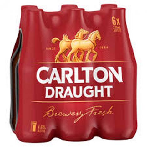 Carlton Draught Stubbies 6 Pack